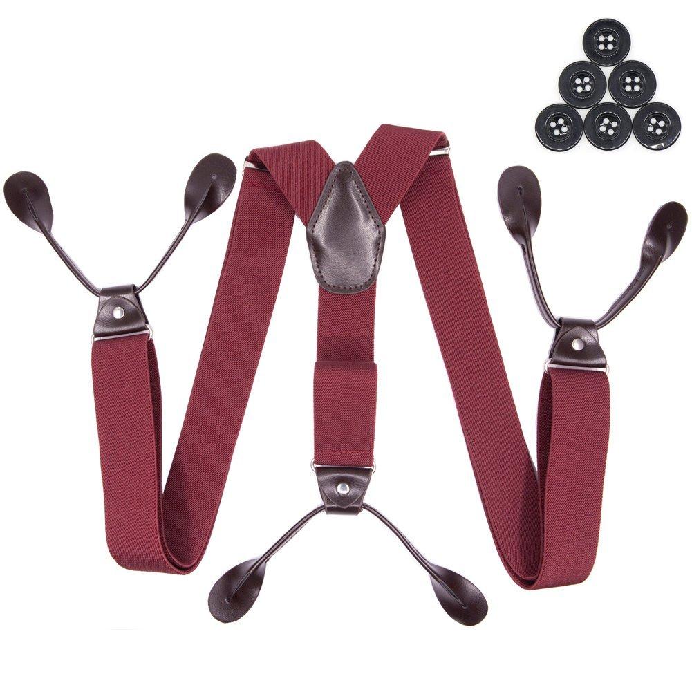 Suspenders for Men Adjustable Elastic Tuxedo Suspenders Mens Fashion Pants Braces Hosenhan