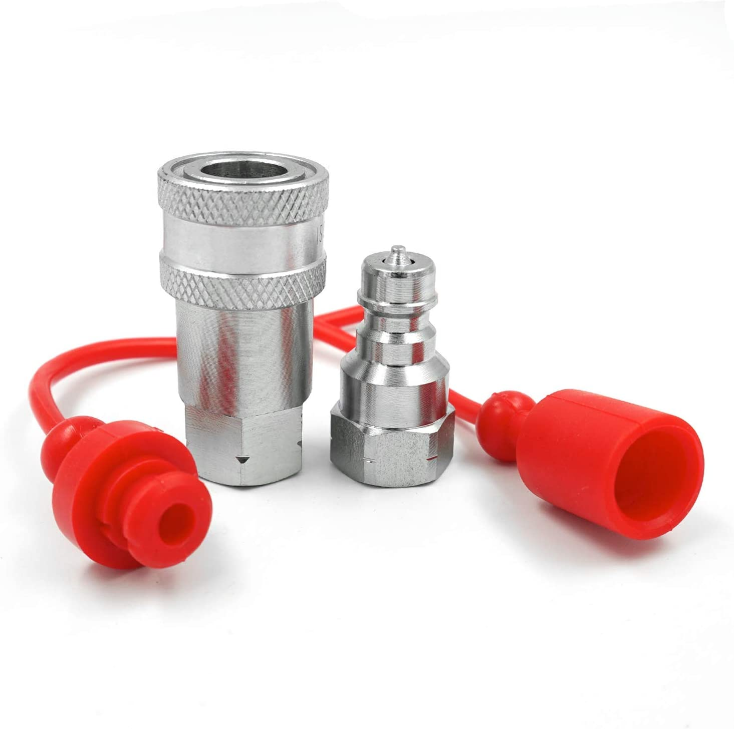 1//4 NPT Thread ISO A Hydraulic Quick Connect Coupling Coupler with Dust Caps