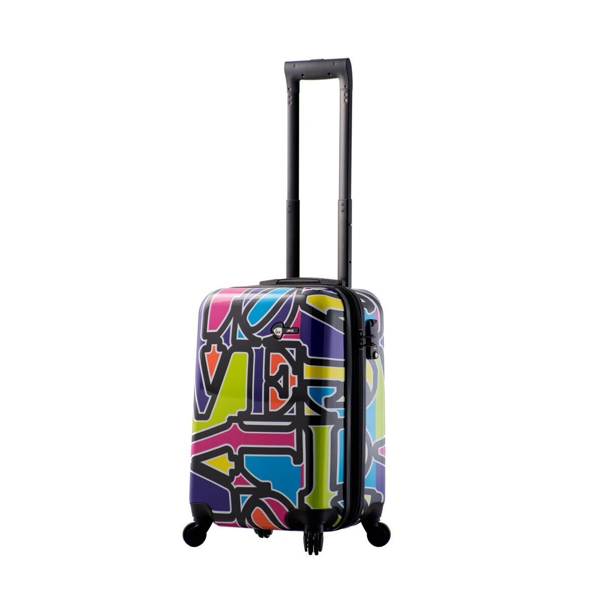 Mia Toro Love Collection Hard Side Spinner Luggage Carry-on, Lcp, Love Collection Purple