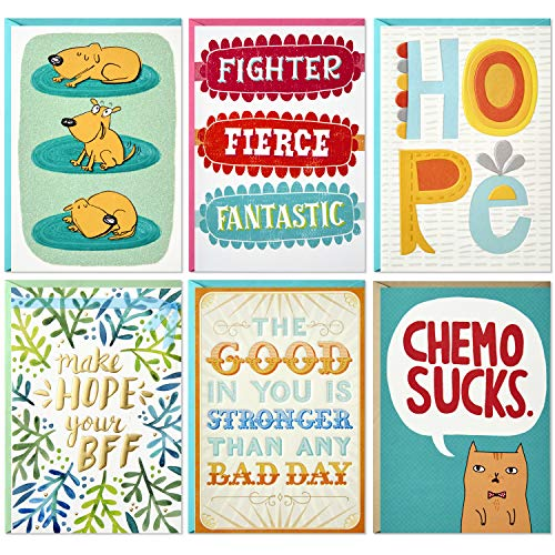Hallmark Shoebox Cancer Support Card Assortment (6 Cards with Envelopes)