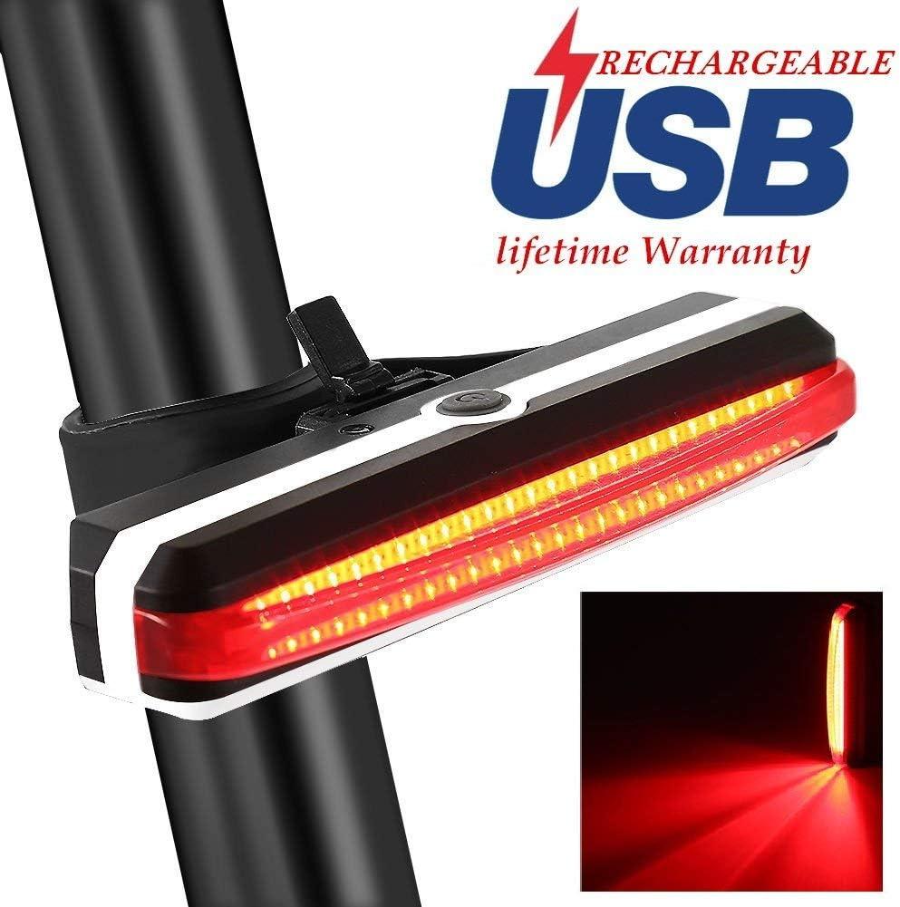 Bicycle Tail USB Rechargeable Warning Waterproof 15 lumens Bike Rear Light TG