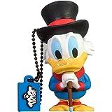 Tribe Disney Uncle Scrooge (Zio Paperone) Chiavetta USB da 8 GB Pendrive Memoria USB Flash Drive 2.0 Memory Stick, Idee Regalo Originali, Figurine 3D, Archiviazione Dati USB Gadget in PVC con Portachiavi - Multicolore