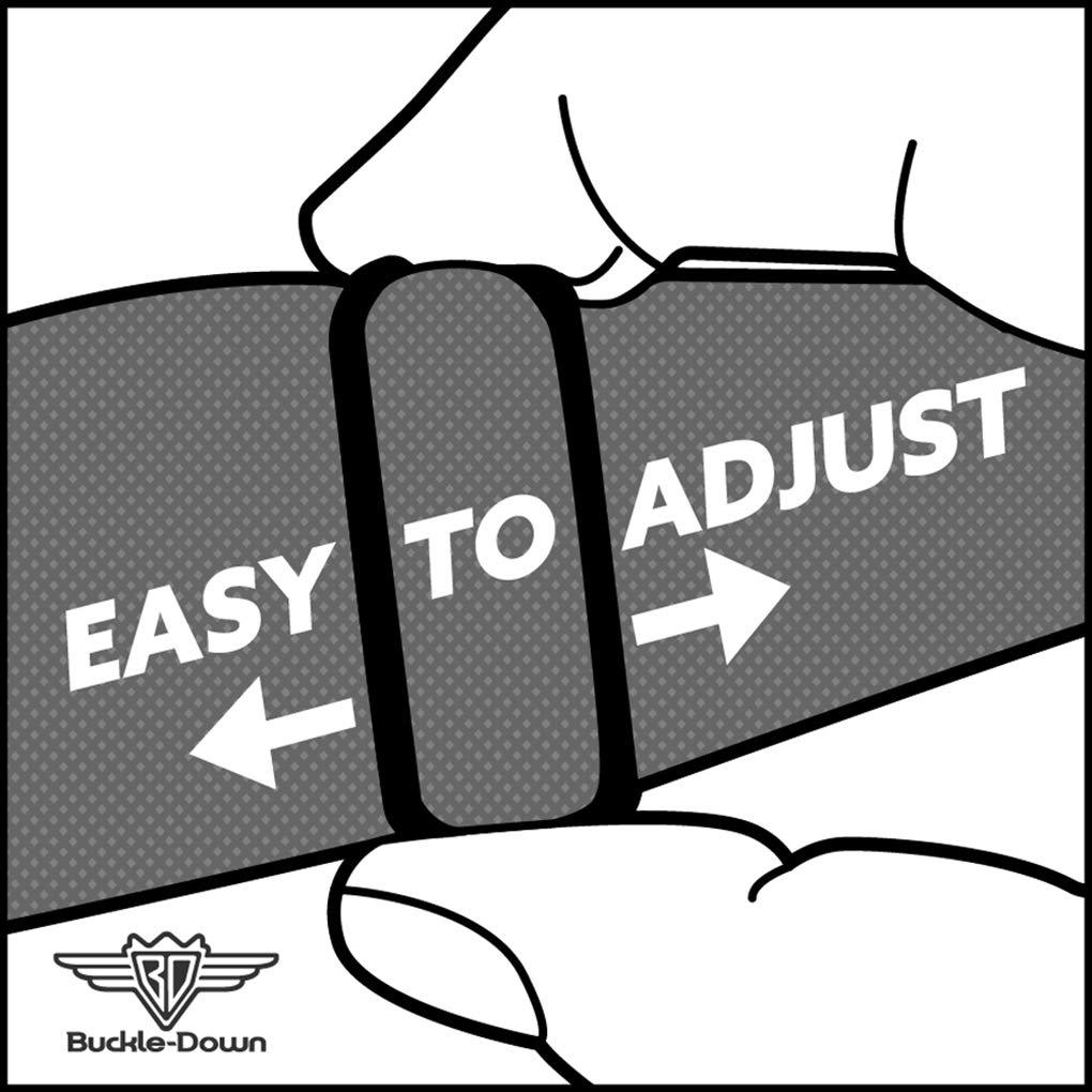 Buckle-Down Mens Seatbelt Belt Black Panel Regular 1.5 Wide-24-38 Inches