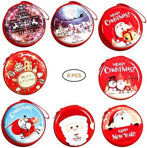 Mallallah Set de 8 Navidad Caja metálica de Regalo Christmas vacío ...