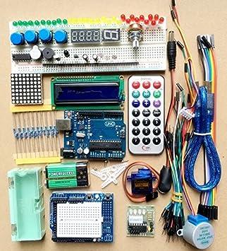 IDOR STORE Kit Iniciación Arduino UNO R3 Tarjeta Chip LCD ...