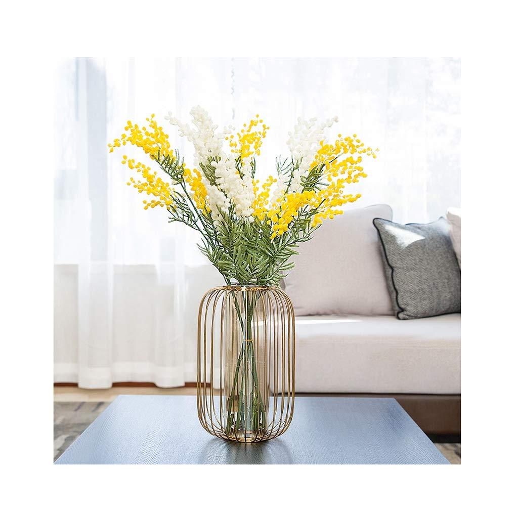 ガラス花瓶 乾燥された花が付いている装飾の贅沢な手吹きガラスの花瓶のゆとりの独特な形の花瓶 B07T6LPVNG
