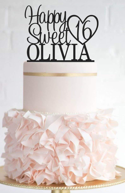 Queen54ferna - Adorno para Tarta de 16 cumpleaños, diseño ...