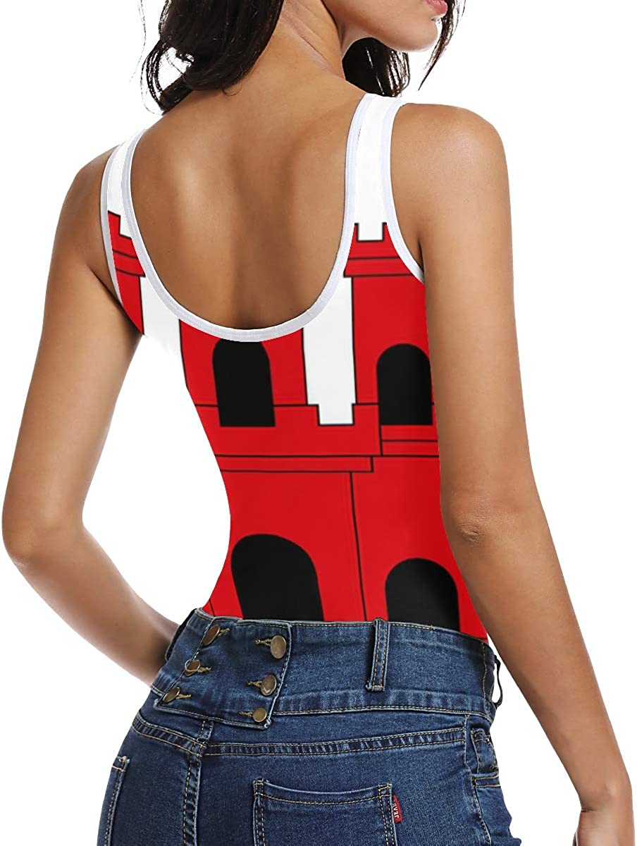 super3Dprinted Gibraltar Flag Womens Bodysuit Jumpsuit