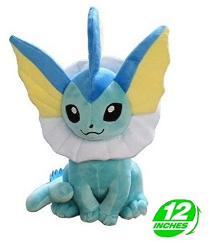 Anime Pokemon Vaporeon Plush Doll 12 Inches