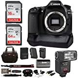 Canon EOS 80D Digital Camera: 24 Megapixel 1080p HD video DSLR Bundle with 80GB memory Battery Grip TTL Camera Flash and Battery with Travel Charger - Professional Vlogging Sports & Action Cameras