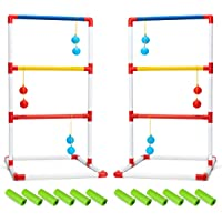 ROPODA Floaty Ladder Golf Ball Toss Game Set with 6 Bolas and Carrying Case Outdoor Games for Family Reunion Ladderball Fun