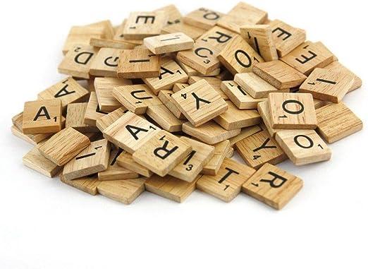 Unbekannt Scrabble de Madera – Madera – Madera Scrabels – distribuido por ABAV: Amazon.es: Juguetes y juegos