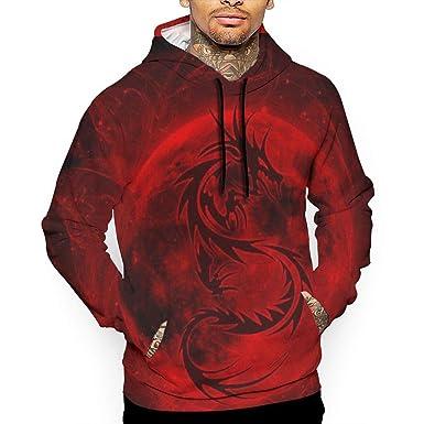 1dc9b99eea83 Black Dragon Blood Moon Men s Pullover Fahion Hooded Sweatshirt Printed  Hoodie