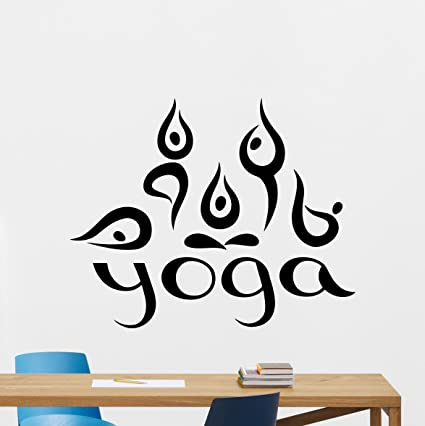Amazon.com: Moderno estudio de yoga calcomanía decorativo ...