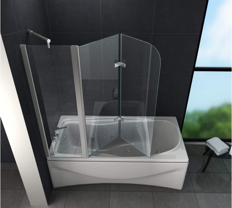 Mampara de Bonn (bañera) 150 x 140 cm/Ducha Ducha – Mampara de ducha pared: Amazon.es: Bricolaje y herramientas