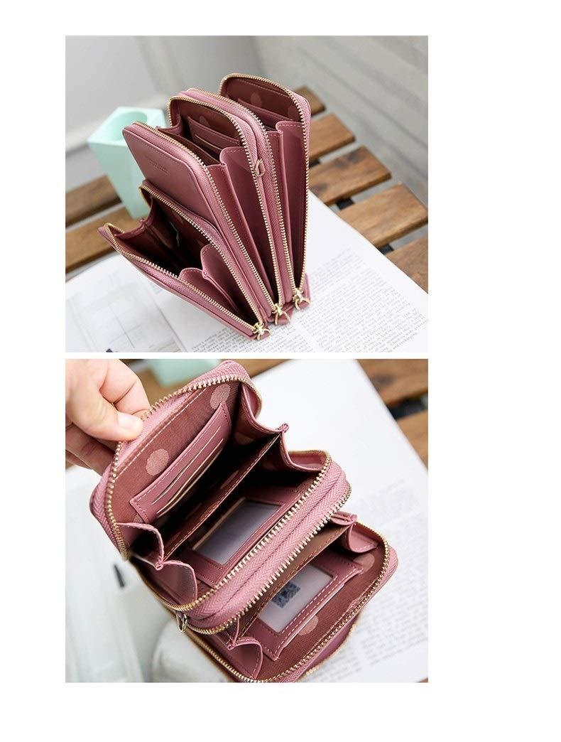 GF- damväskor damer koreanskt mode stor kapacitet diagonal väska enfärgad multifunktionell mobiltelefonväska plånbok Svart Röd