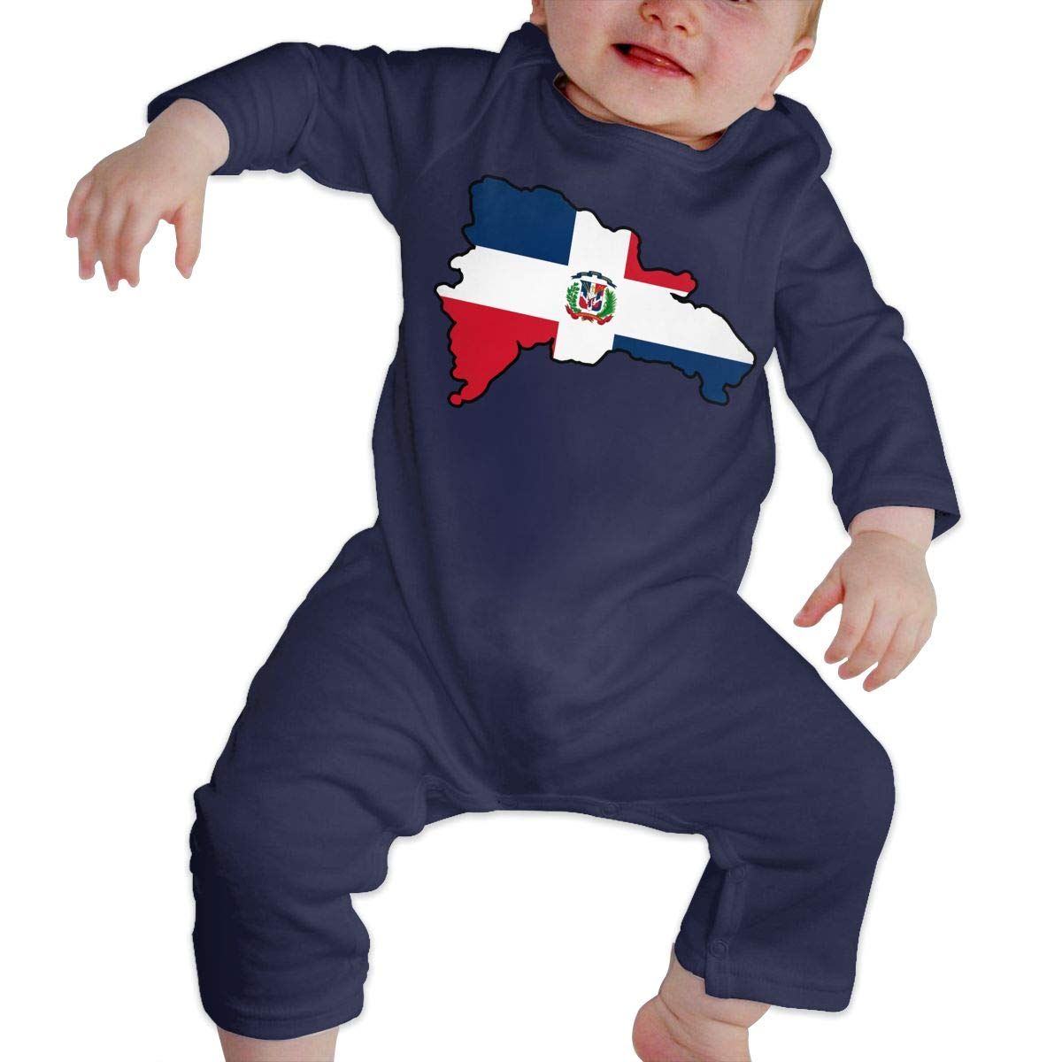 LBJQ8 Dominican Republic Newborn Baby Girl Infant Soft /& Breathable Jumpsuits Playsuit Outfits