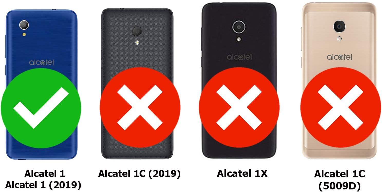 TBOC 2X Funda de Gel TPU Azul para Alcatel 1: Amazon.es: Electrónica