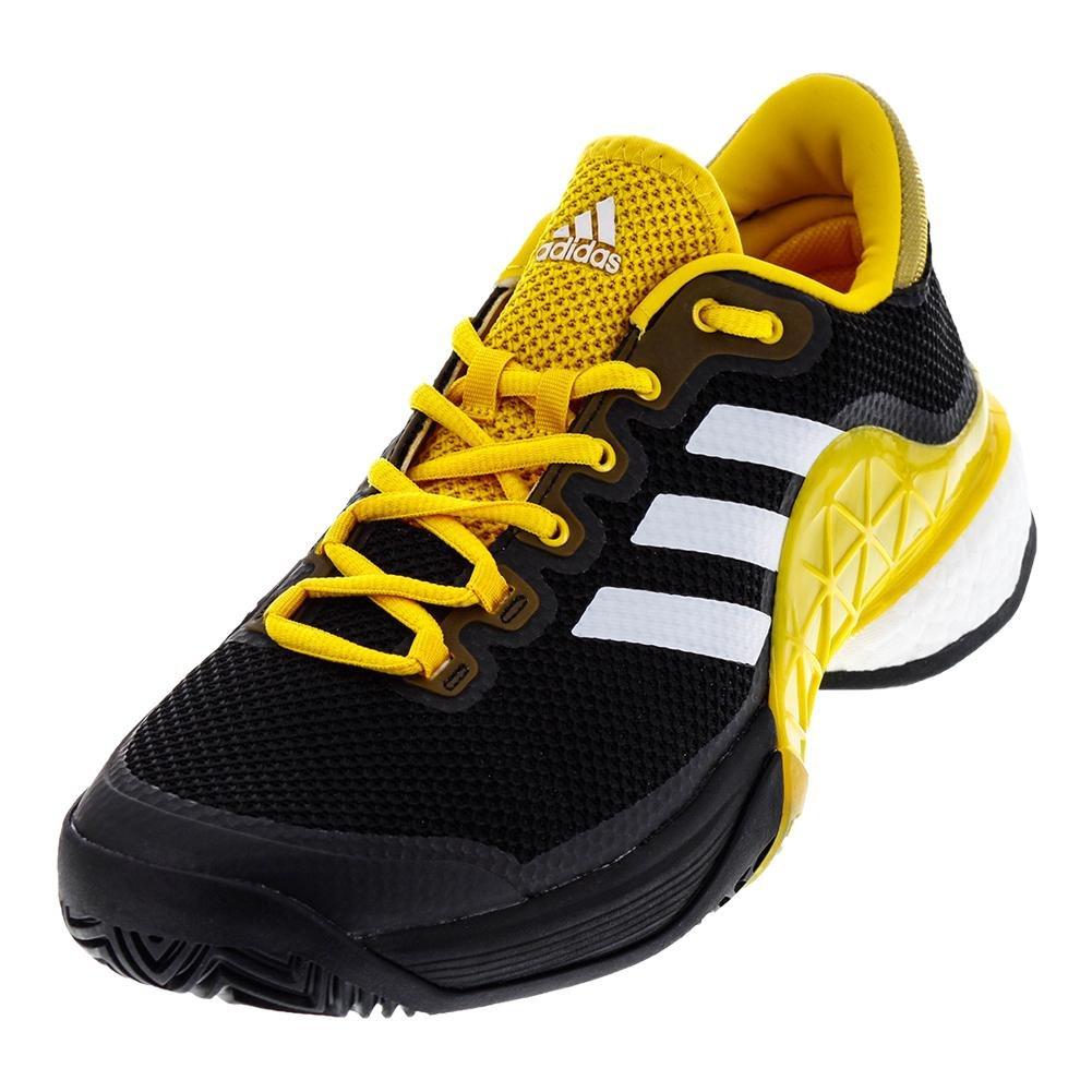 adidas 2017 Barricade Boost Mens Tennis Shoe B01MXXV4YN 10 D(M) US Core Black/White/Eqt Yellow