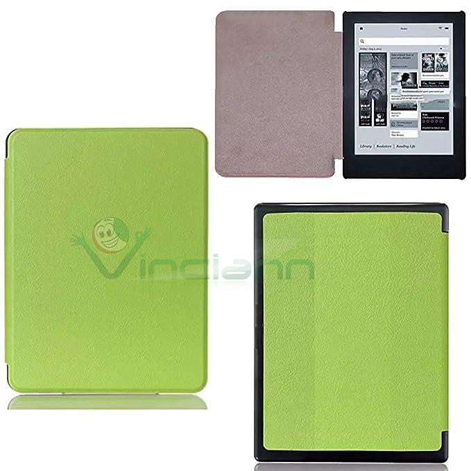 Funda Carcasa Eco Piel Verde para eBook Reader Mondadori Kobo Aura ...