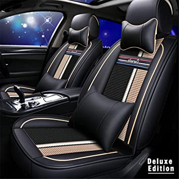 FRONT PAIR of Luxury QUILTED Protectors Car Seat Covers MERCEDES E-Class