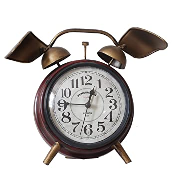 Relojes de mesa Taiwán Reloj Hierro labrado Creativo Pequeño Hogar Dormitorio Sala de Estar Sin marcar