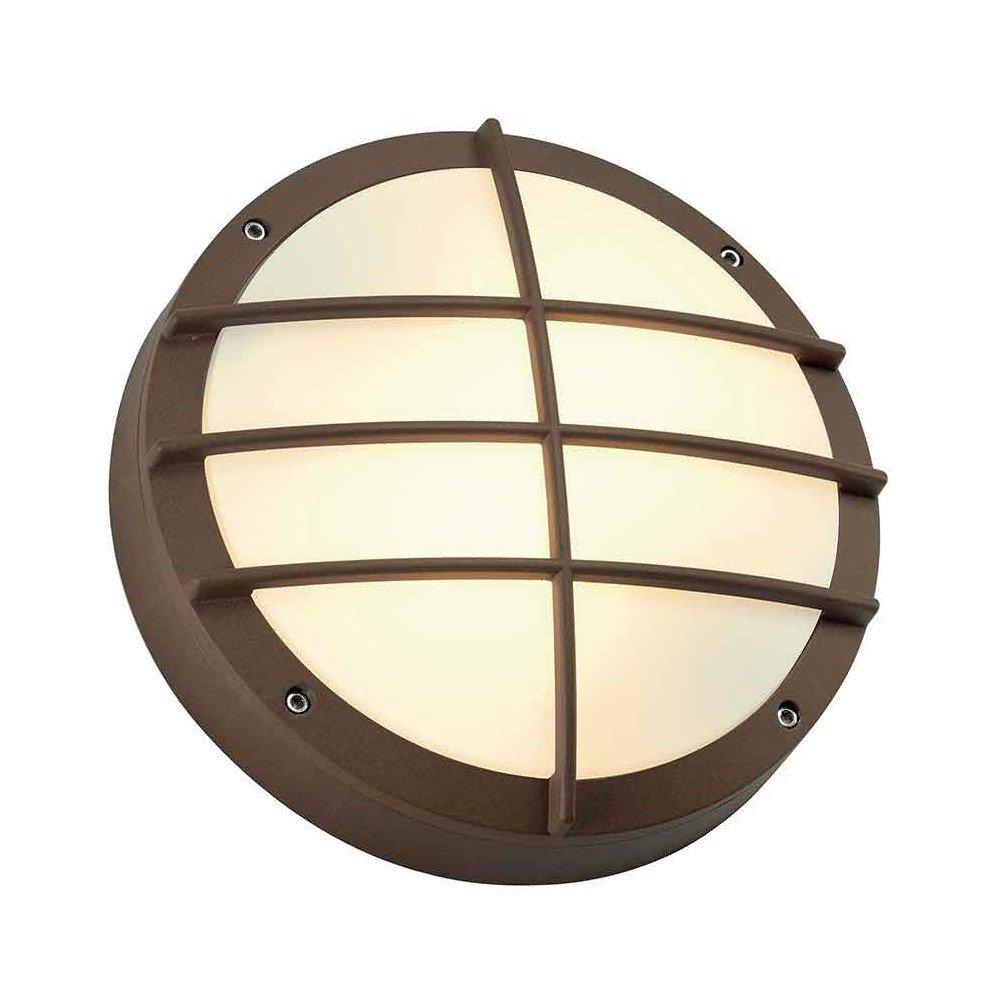 SLV Außen-Deckenleuchte BULAN mit Bewegungs-Melder, Infrarot-Sensor/zur Außenbeleuchtung von Wänden, Wegen, Eingängen/LED Deckenleuchte, Wegeleuchte, Wand-Leuchte/2x E27, max. 24W, IP44, A-A++ [Energieklasse A] 232425