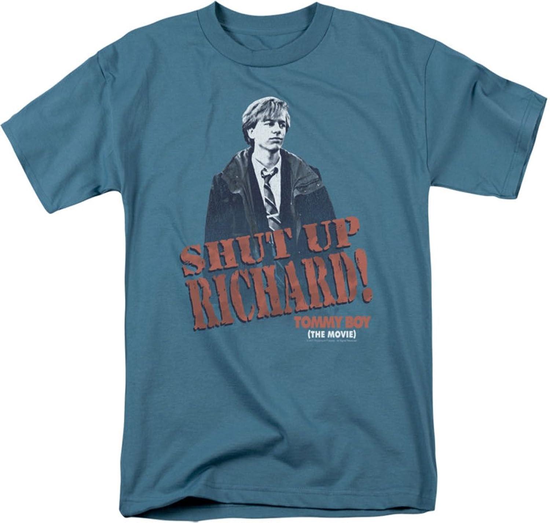 Tommy Boy - Mens Shut Up Richard T-Shirt In Slate