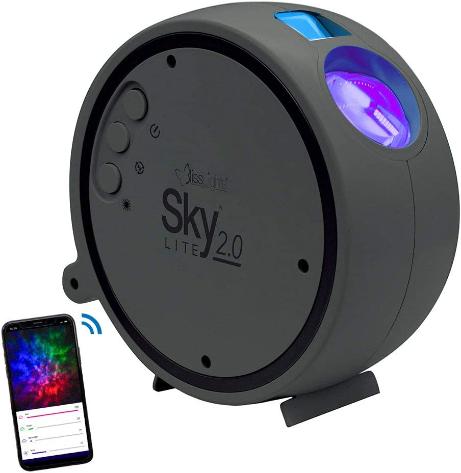 BlissLights Sky Lite 2.0 - RGB LED Laser Star Projector, Galaxy Lighting, Nebula Lamp for Gaming Room, Home Theater, Bedroom Night Light, or Mood Ambiance (Blue Stars, Smart App Control)
