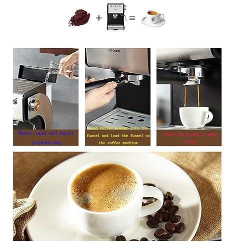 Máquina De Café Espresso Semiautomática Casera, Protección Automática De Control De Temperatura, Extracción De Café A Alta Presión, Boquilla De Vapor Para ...