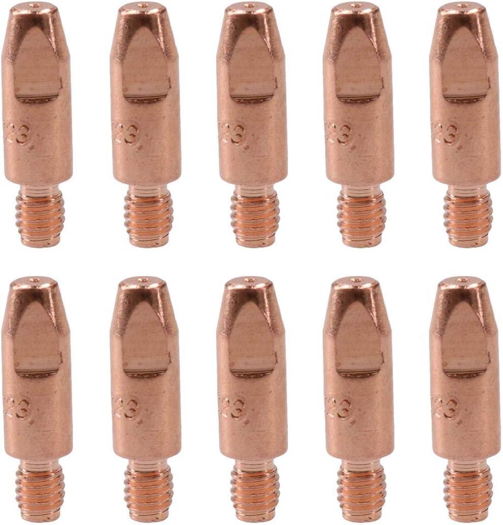 1 x Sudario /& 10 x 0.6 m Contacto Tips de soldadura MIG Binzel Euro MB15