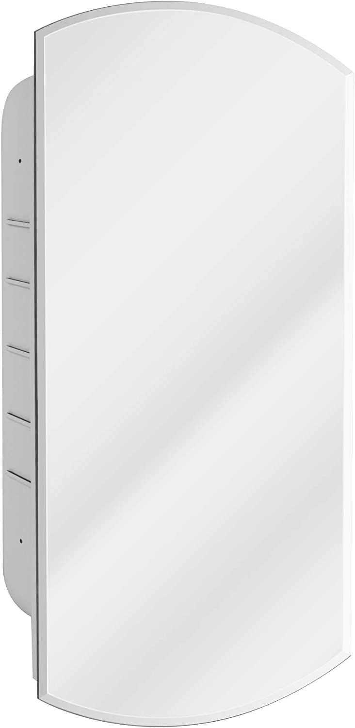 Head West Beveled Eclipse Mirror Recessed Medicine Cabinet, 16-Inch by 30-Inch