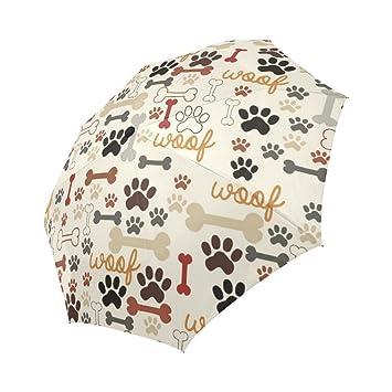 390bb8af4608 Amazon.com: WECE Funny Dog Paws Prints And Bones Automatic Folding ...