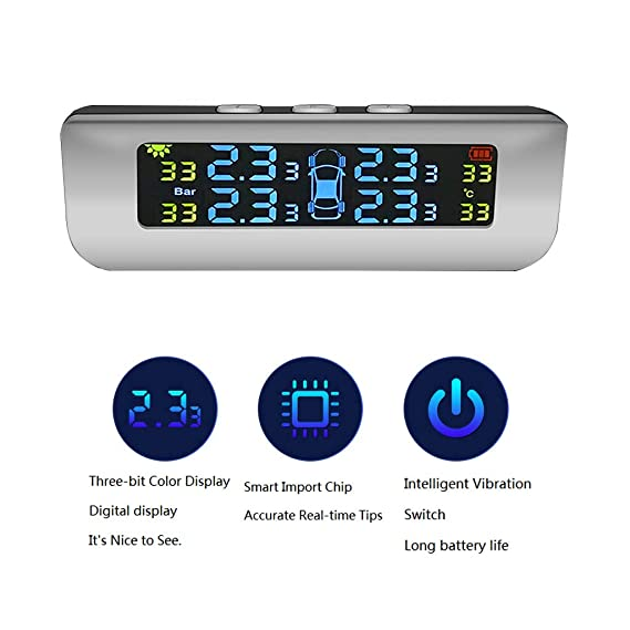 Alta Precisión Incorporada De La Radio Del Monitor De La Presión De Neumático La Carga Solar Ahorra Combustible Conveniente Para Todas Las Clases De ...