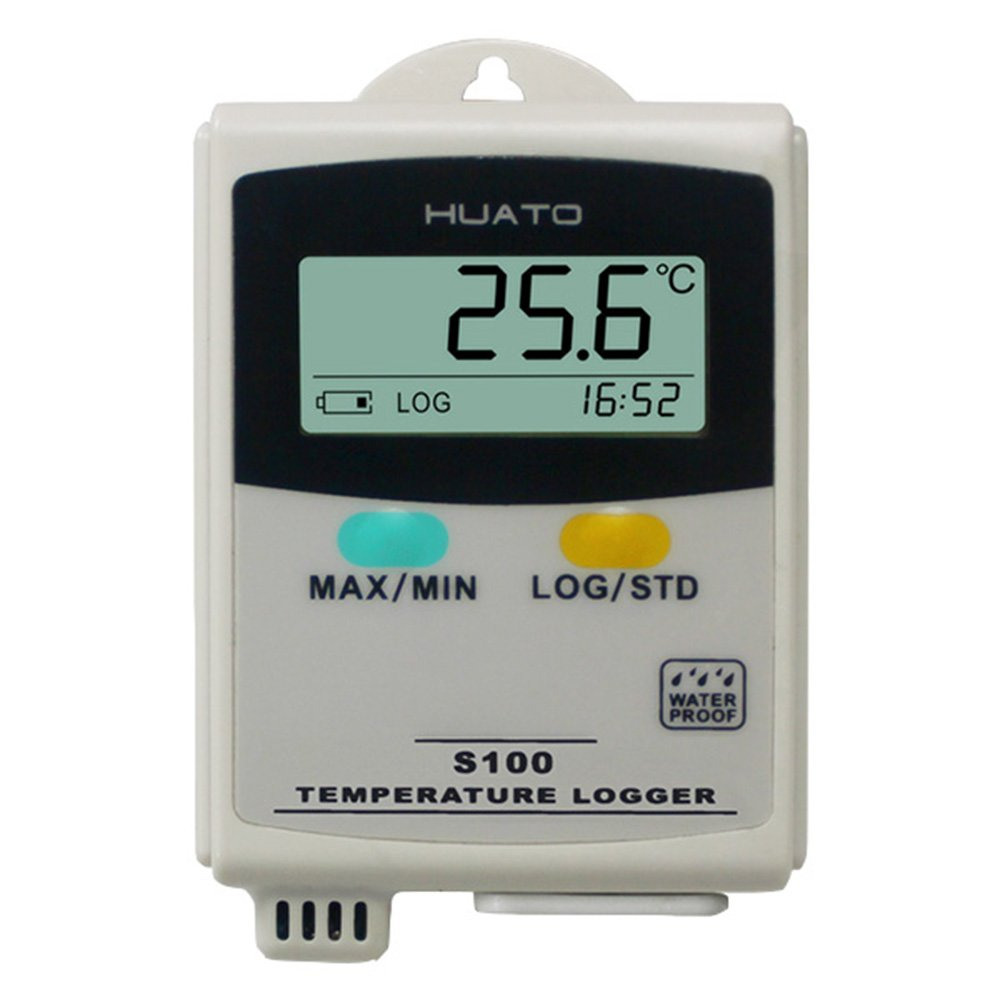 S100-TH LCD Display USB Temperature and Humidity Data Logger Recorder 4,3000 Points Refrigeration Cold Chain Thermometer Hygrometer Meter with Interna Sensor