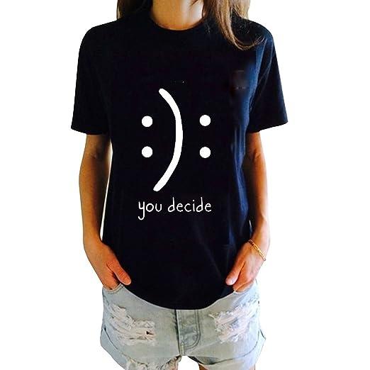 7f7bd5b49dc Womens Tshirt Funny Juniors Tees Short Sleeve Graphic Printed Tops S Black