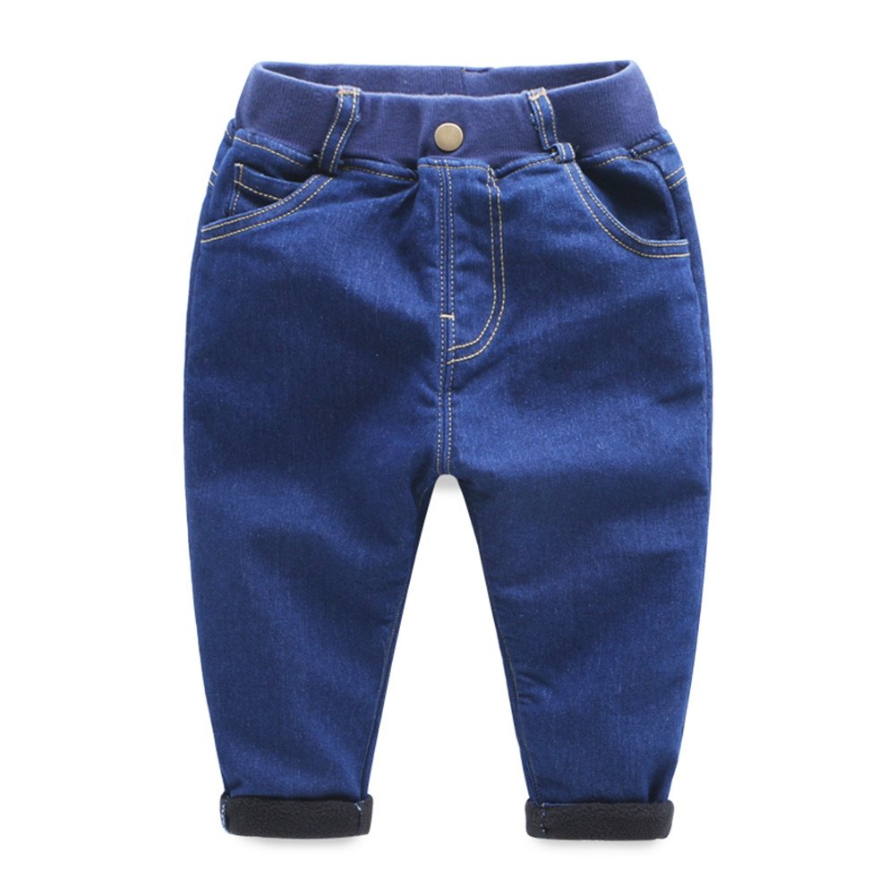 Mud Kingdom Boys Fleece Lined Regular-Fit Thermal Jean SK0129