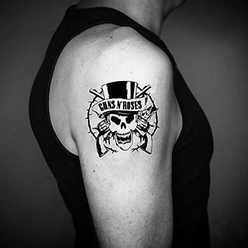 489f98d743e74 Amazon.com : Guns N' Roses Temporary Fake Tattoo Sticker (Set of 2 ...