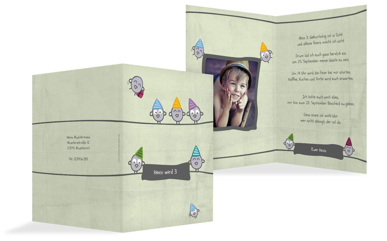 Einladung zum Geburtstag Foto Vogelfest, 20 Karten, PastellHellGrün B07L12VMC3 | Internationale Wahl  | Genial Und Praktisch  | Verwendet in der Haltbarkeit