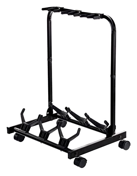 Rocktile Triple Multi Guitar Stand With Wheels For Electric And