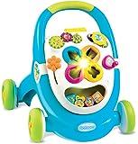 Smoby - 110303 - Cotoons Trott - Trotteur pour Enfant - MultiFonction - sons et Lumières - Bleu