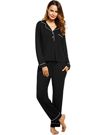 8723fb7c56cc Image Unavailable. Image not available for. Color  Avidlove Womens Cotton  Button-up Pajamas ...
