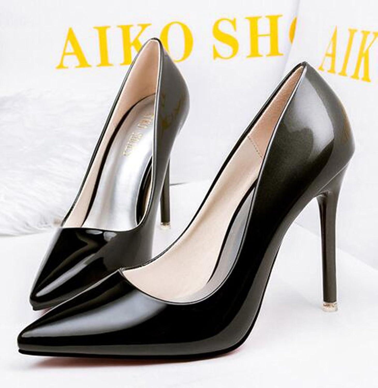 Aisun Women's Elegant Burnished Gradient Pointed Toe High Stiletto Heel  Pumps Shoes: Amazon.co.uk: Shoes & Bags