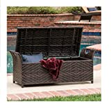 Outdoor Wicker Storage Bench Seat Box