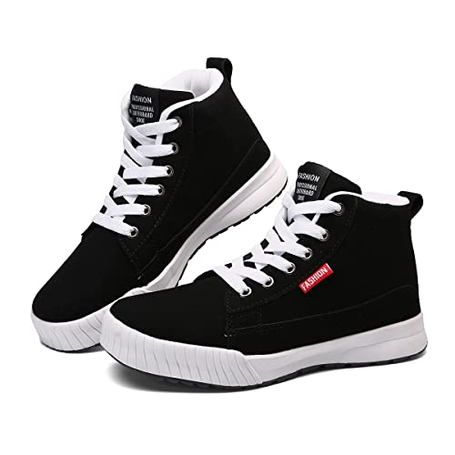 Gracosy Baskets Montantes Hommes Femmes Enfants, Sneakers Tennis à Lacets Talons Plats Chaussures de Ville Plates Boots Bottines Sports Fitness