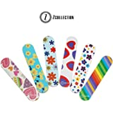ZCollection TM (1 DOZEN) Colorful Girly Mini Emery Board Nail Files