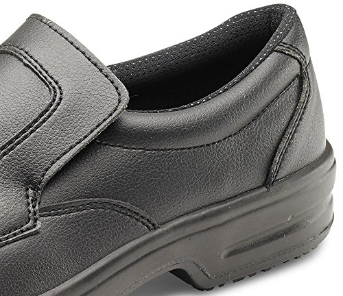 Microfibre Slip On Safety Shoe Black 05