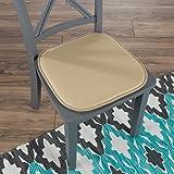 "Lavish Home 82-TEX1045TN Memory Foam Chair Cushion-Square x 16"", Tan"