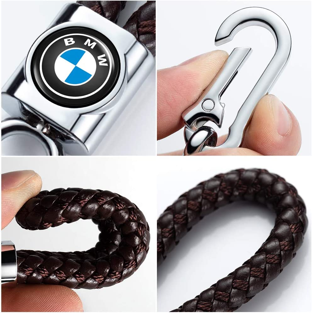 Genuine Leather Keychain for Jeep Key Chain Car Logo Key Chain Accessories Simple Elegant Durable