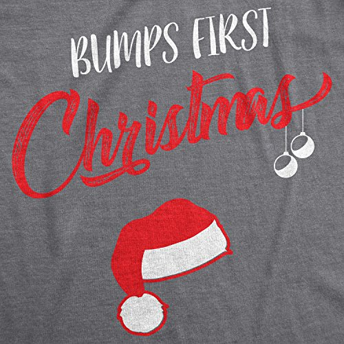 c6ccaa10 Crazy Dog T-Shirts Bumps First Christmas Maternity Shirt Funny Holiday  Party Tee for Pregnant